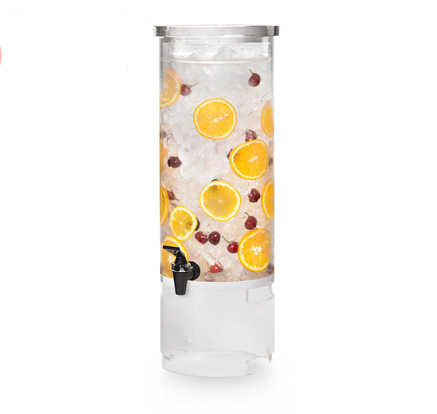 Round Beverage Dispenser Clear Drink Container 3 Gallon