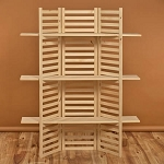 3 Shelf Wood Panel Display Rack