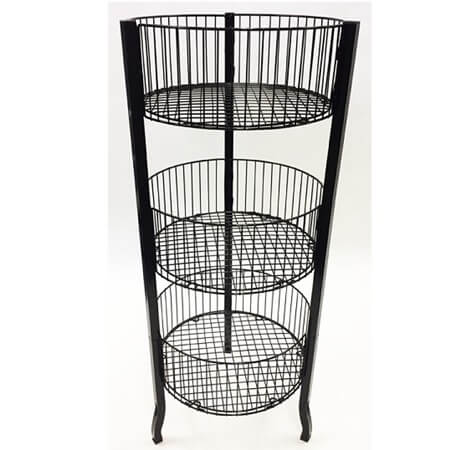 3 Tier Wire Dump Bin Rack Retail Display Racks Basket