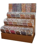3-Tier Wooden Candy Rack - With 9 inch Bins