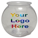 1.5 Gallon Logo Round Plastic Fish Bowl - 108ct
