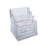 4-Tier Four Pocket Letter Sized Brochure Holder