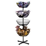 4-Tier Spinner Display - Black