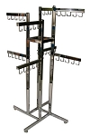 4-Way Handbag Rect Tube Rack- 8 Faceout 5 Hook