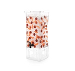 4 Gal Square Beverage Dispenser - Clear Acrylic