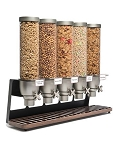 5 Container Dispenser w/Walnut Tray