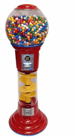 Mini Vending Machine >> 5 ft Spin & Drop Spiral Gumball Machine | Gumball Machine