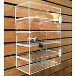 Small 5 Shelf Locking Slatwall Showcase