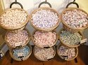9 Basket Wicker Display