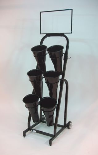 Vase Floral Cart Flower Stand Display Retail