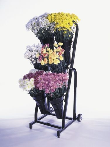 6 Vase Floral Cart Flower Stand Display Retail Display