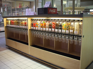 Locking Candy Kiosk Bulk Candy Display Grocery Store