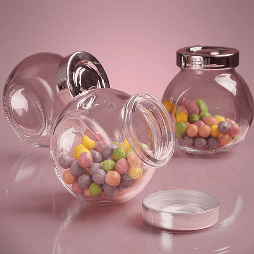 e5051666b317 6 Oz Glass Jars w/Lids | Candy Container | Display Jars