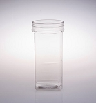 84 oz Plastic Square Jars - 18ct