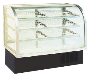 Refrigerated Bakery Case - Curved Front - 48