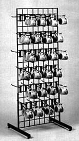 Grid Mug Rack Wire Cup Rack Retail Floor Rack Displays