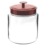 96 oz Mini Montana Jars w/Red Metal Lid