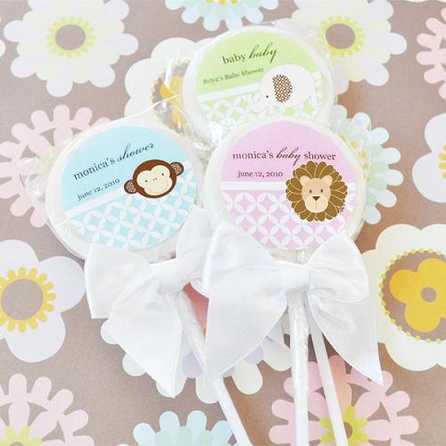 Animal Baby Shower Lollipops Baby Shower Themes Lollipop Favors