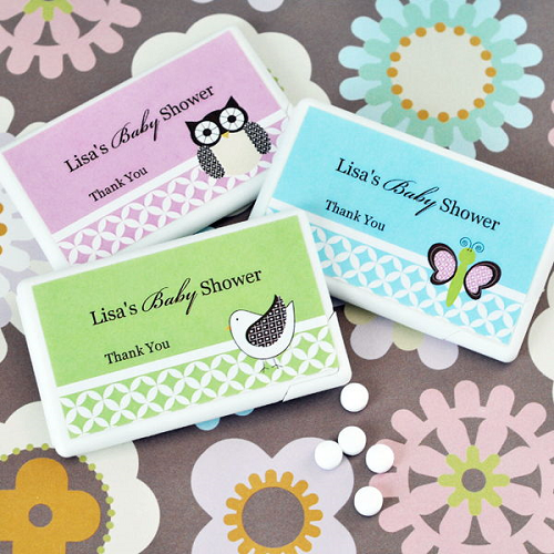 Animal Themes Baby Shower Ideas Personalized Mini Mints
