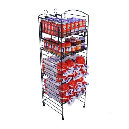 Black Matte 5 Shelf Fold Up Rack