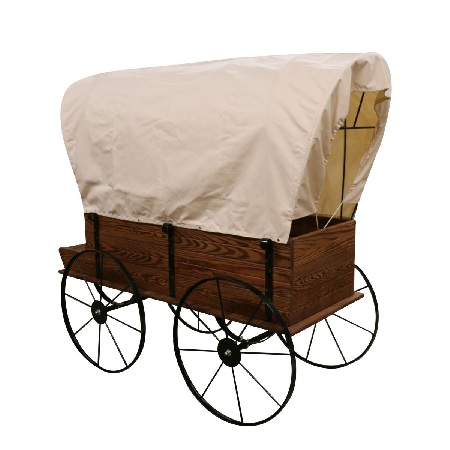 Wagon Display With Cover Wooden Store Display Plant Cart