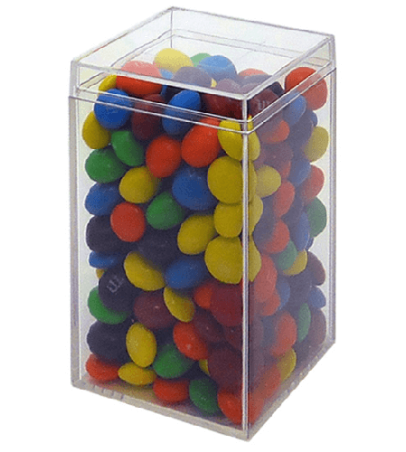 Square Tall Clear Box Candy Favor Clear Plastic Bin
