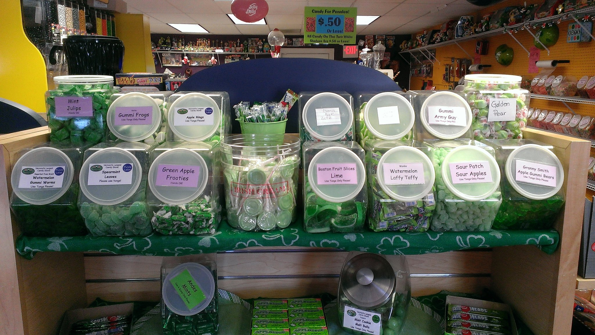 Green Candy Display