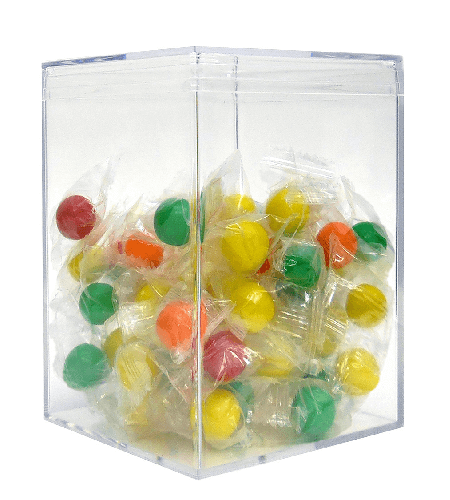 42 oz Jumbo Square Clear Box - 24ct