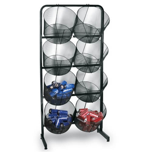 Large Double Black Wire Mesh Baskets Display