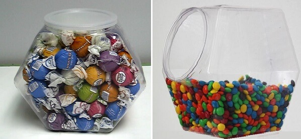 Plastic Hexagon Containers