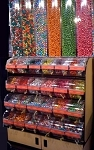 Premium Divided Bins Candy Display w/Top Selling Candy