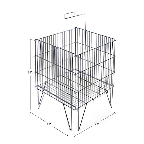 Square Large Wire Bin