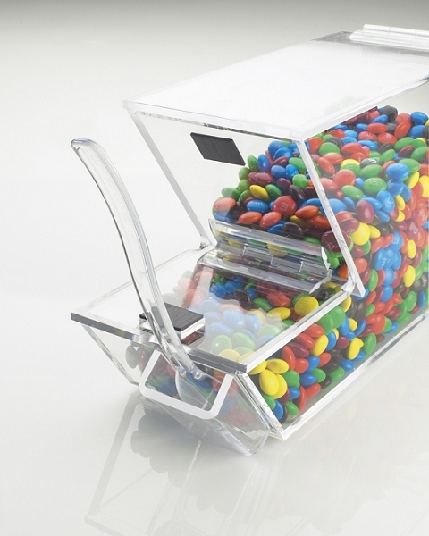 Stackable Topping Dispenser Hinged Lid Dispenser Candy Bin