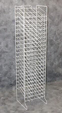 White 20 Slot Paper Rack Paper Display Rack Wall Mount