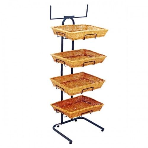 Willow Basket Rack / Floor Stand