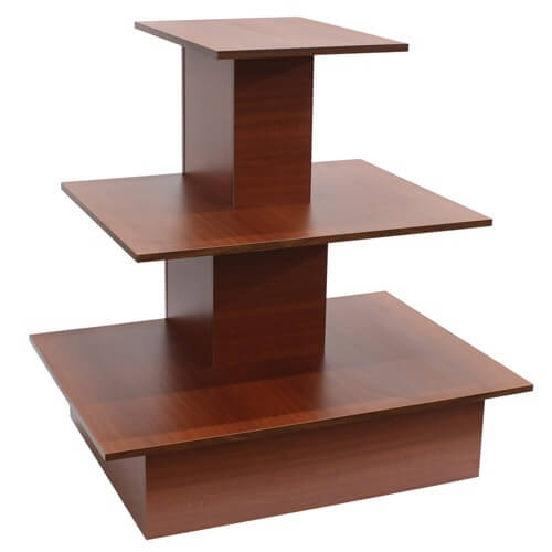 Wood cherry space saving wall table wooden retail display