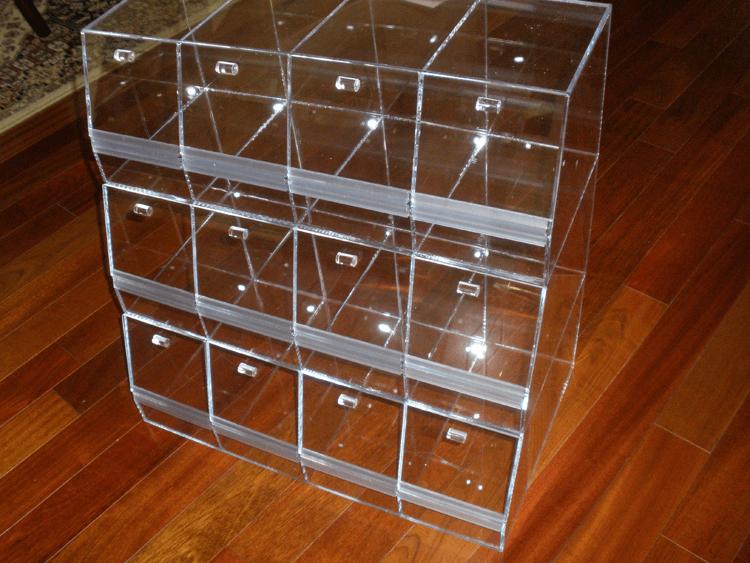 Acrylic Multi Bin System Candy Dispenser Divided Bins