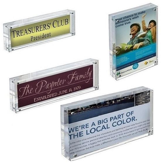 Acrylic Block Sign Holder Frame | Wholesale Sign Holders