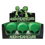Alien Head Sour Candy Tin - 12ct