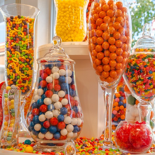 Assorted Colored Candy Buffet