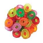 Assorted Mini Gummi Rings - 30lbs