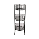 Black 3 Tier Circular Bin Display