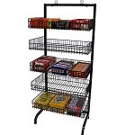Black 5 Basket Impulse Merchandiser