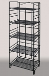 Black 5-Tier Adjustable Merchandiser