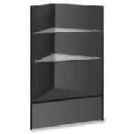 Black Corner Case with Glass Shelves