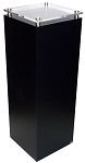 Black Laminate Pedestal with Acrylic Top - Size Options
