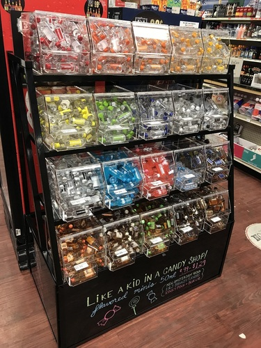 Mirrored Candy Rack Display