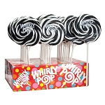 Black & White Whirly Pops - 1.5oz - 24ct