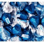 Blue and Silver Hershey Kisses - 11lbs