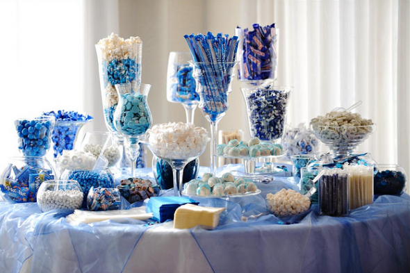 Blue Candy For Buffets